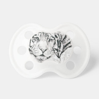 Tiger drawing pacifiers