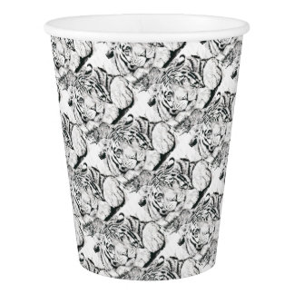 Tiger drawing paper cup