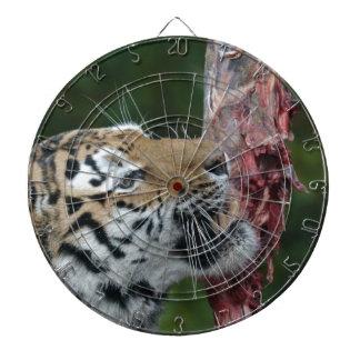 Tiger eating dartboard