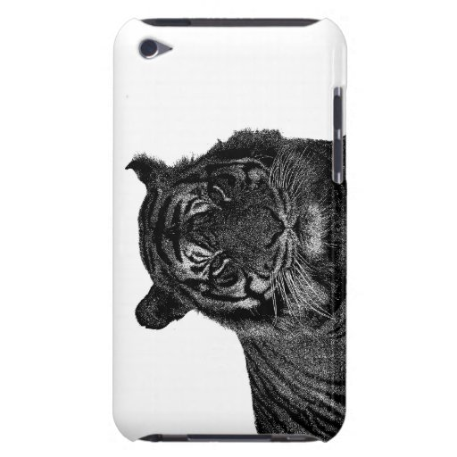 Tiger Endangered Species Wild Cats Black and White iPod Touch Covers