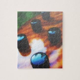 Tiger eye bass pickup knobs close up jigsaw puzzle