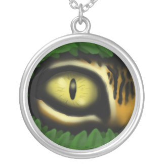 Tiger eye cartoon art cool necklace design