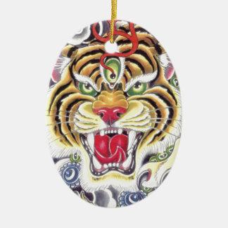 Tiger Eye Christmas Ornament