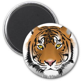Tiger Eyes 6 Cm Round Magnet