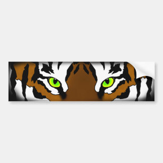 Tiger Eyes Bumper Sticker