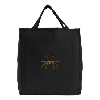Tiger Eyes Embroidered Bag