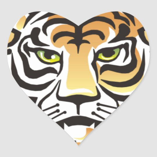 Tiger Eyes Heart Sticker
