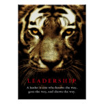 Tiger Eyes Leadership Motivational Inspirational Poster