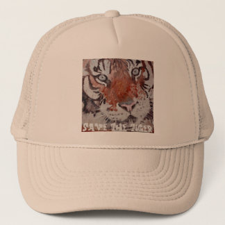 Tiger Eyes. Save The Tiger. Bengal Tiger Trucker Hat
