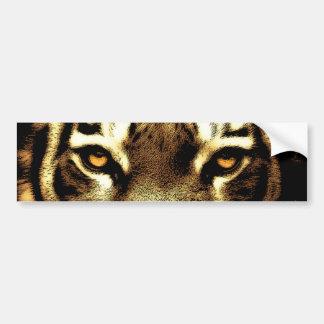 Tiger Eyes Wild Animal Photos Bumper Stickers