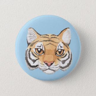 Tiger Face 6 Cm Round Badge