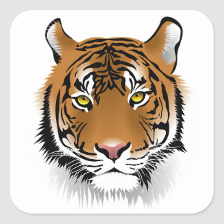 Tiger Face Art Stickers