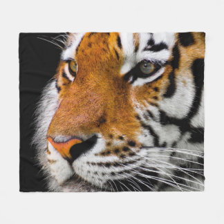 Tiger face cosy fleece blanket