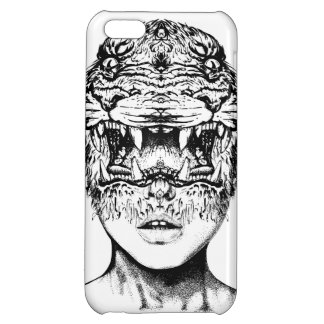 TIGER FACE COVER FOR iPhone 5C
