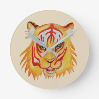 Tiger Face  Drawing  Round (Medium) Wall Clock