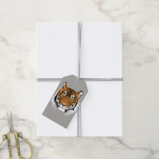Tiger face gift tags