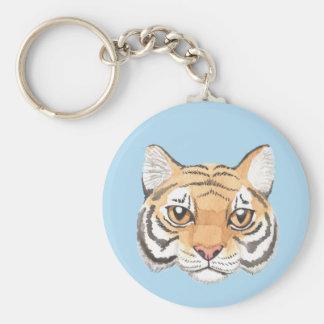 Tiger Face Key Ring