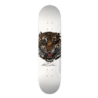 Tiger Face Skate Board Deck