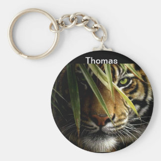 Tiger Face Wildlife Keychains