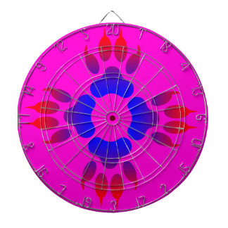 Tiger Feet Print Metal Cage Pink Dartboard