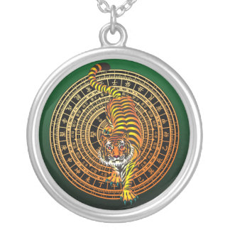 Tiger Feng Shui Silver Plated Necklace