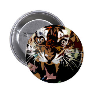 Tiger Freedom 6 Cm Round Badge