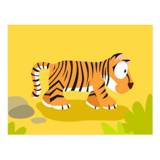 Tiger from my world animals serie postcard