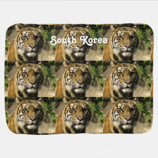 Tiger from South Korea Swaddle Blankets