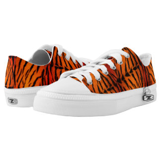 Tiger Fur in Shades of Orange Printed Shoes