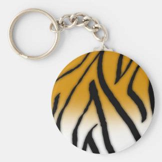 Tiger Fur Key Ring