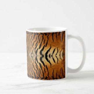 Tiger fur pattern basic white mug