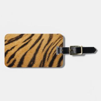 Tiger Fur Stripes Luggage Tag