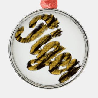 Tiger - Furry Text Christmas Ornaments