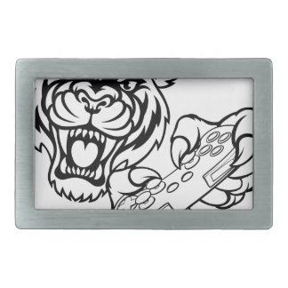 Tiger Gamer Mascot Belt Buckles