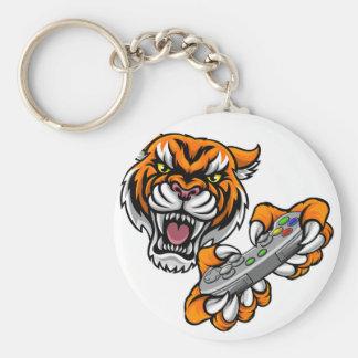 Tiger Gamer Player Mascot Key Ring