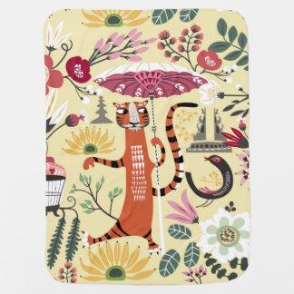 Tiger Garden Swaddle Blankets