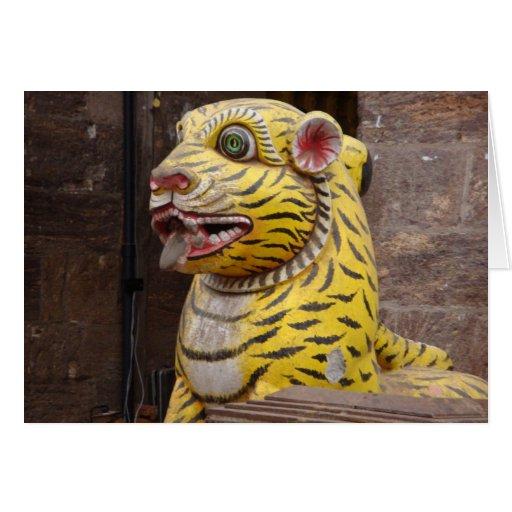 Tiger Gate, Jagannath Puri (Orissa, India) Greeting Card