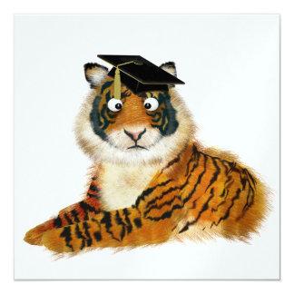 Tiger Graduation - SRF 13 Cm X 13 Cm Square Invitation Card