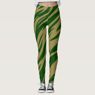 TIGER GREEN GOLD LEGGINGS