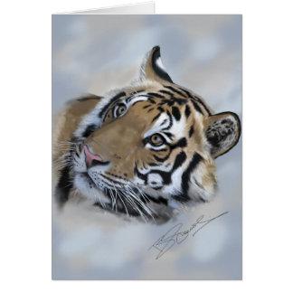 Tiger greeting card Banda of Kanha