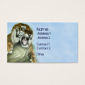 Tiger Growl Business Card