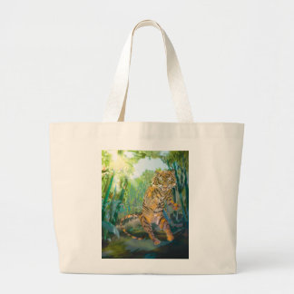 Tiger guardian jumbo tote bag