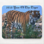 Tiger guarding the river mouse pad