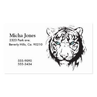 Tiger Head Blue Eyes Business Card