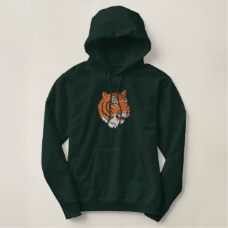 Tiger Head Embroidered Hoodie