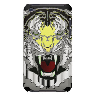 Tiger Head, Metallic-look,Wild Cat, Animal Barely There iPod Cases