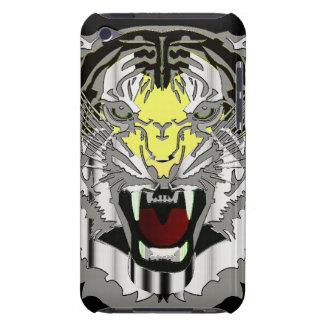 Tiger Head, Metallic-look,Wild Cat, Animal iPod Touch Case
