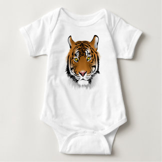Tiger Head Print Design Baby Bodysuit