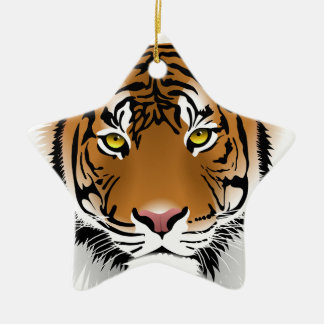 Tiger Head Print Design Christmas Ornament