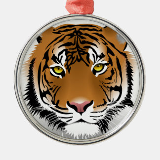 Tiger Head Print Design Christmas Ornament